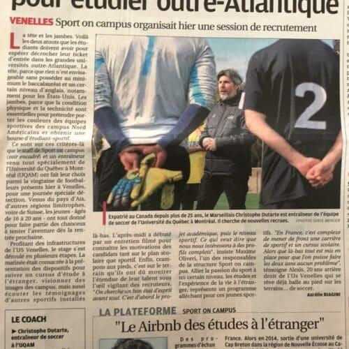 La Provence - Sport On Campus (7 Mars 2018)