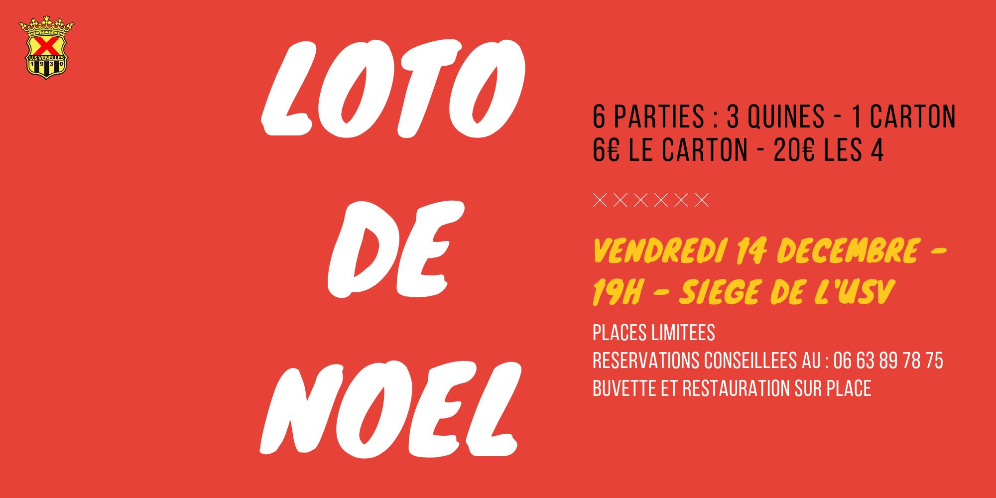 Loto de Noël USV (14 Décembre 2018)