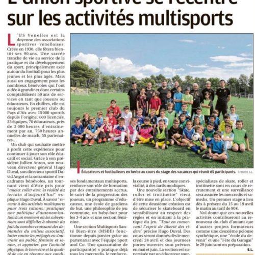 La Provence - L'Union Sportive se recentre sur les activités multisports (14 Avril 2019)