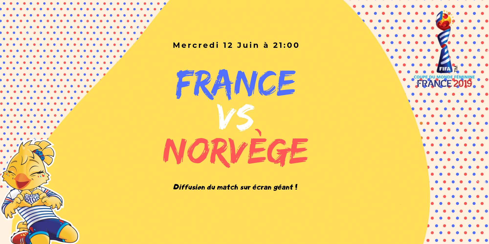 France VS Norvège - Coupe du Monde - USV