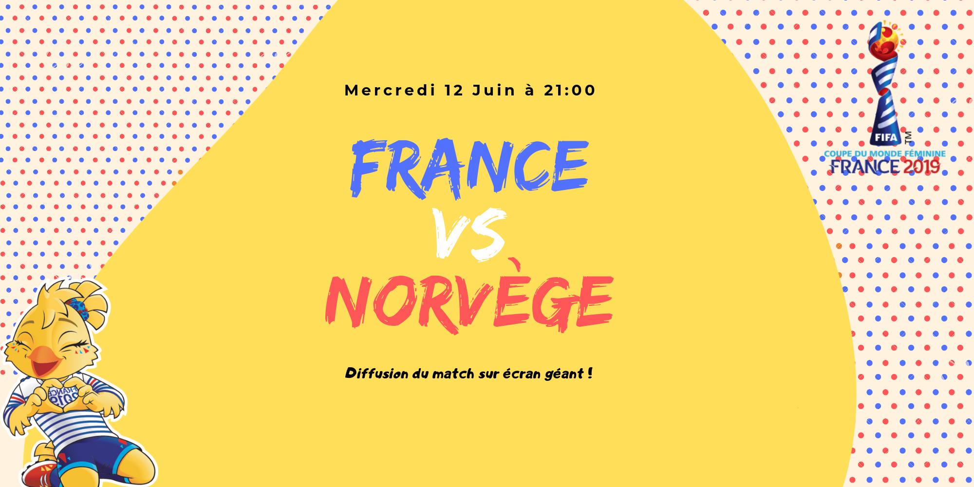 France VS Norvège - Coupe du Monde - USV