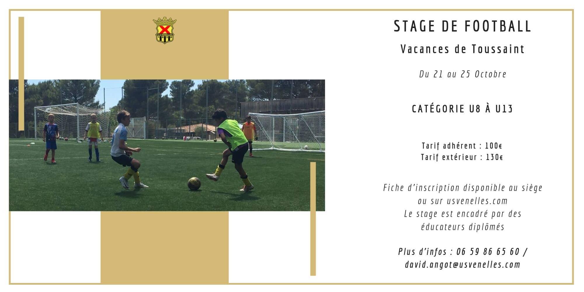 Stage de foot toussaint - USV
