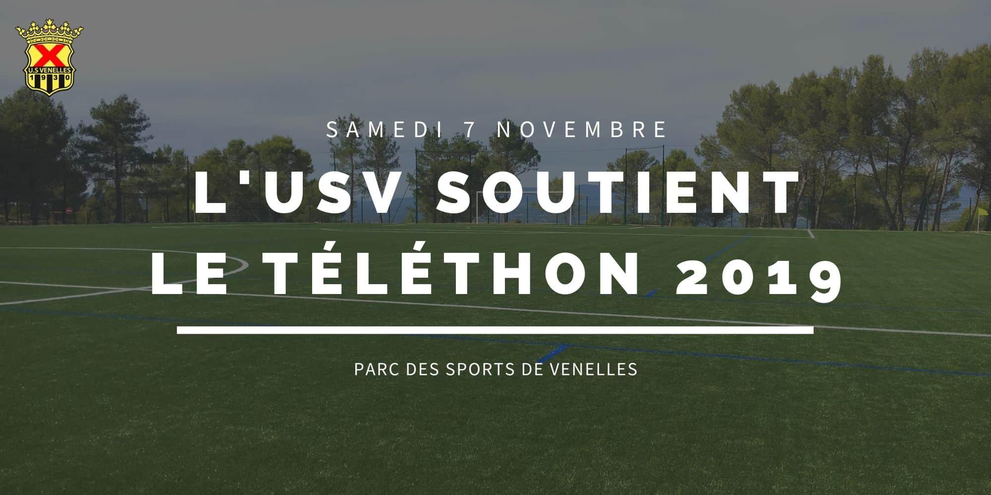 L'USV soutient le téléthon 2019