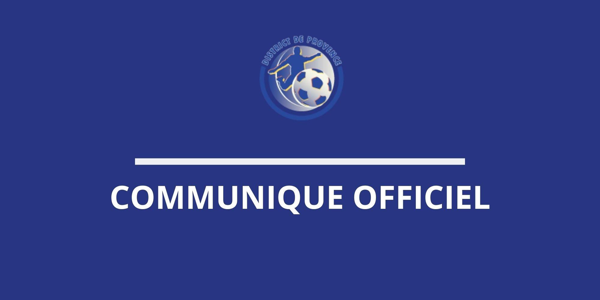 COMMUNIQUE OFFICIEL - District de Provence