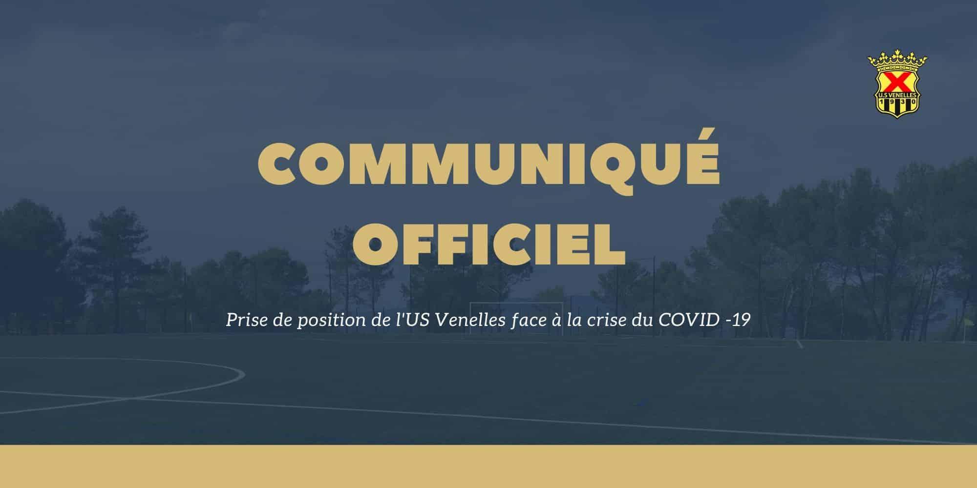 Communiqué officiel crise du COVID 19