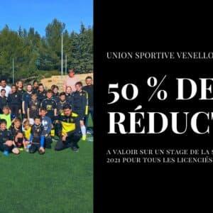 50 % de réduction pour les stages - USV