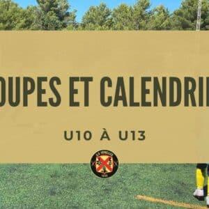 Calendriers et groupes U10 à U13 - USV