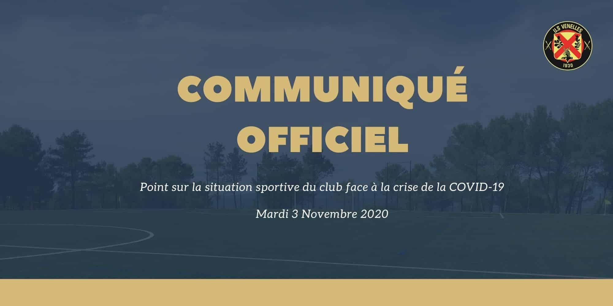 Communiqué officiel – Point sur la situation sportive du club face à la crise du COVID -19 (27 Mai 2020) - US Venelles