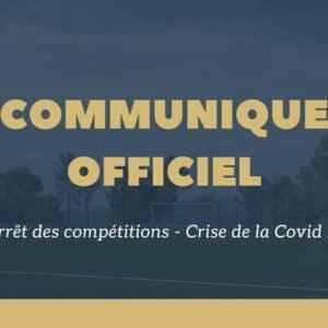 Communiqué officiel – Arrêt des compétitions (29 Mars 2021) - US Venelles