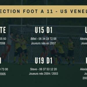 Détection US Venelles - Foot à 11 (2021-2022)