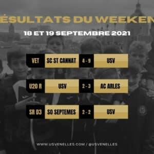 Résultats du weekend - USV